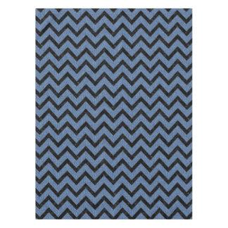CHEVRON9 BLACK MARBLE & BLUE DENIM (R) TABLECLOTH
