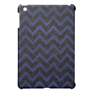 CHEVRON9 BLACK MARBLE & BLUE LEATHER CASE FOR THE iPad MINI