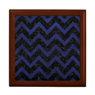 CHEVRON9 BLACK MARBLE & BLUE LEATHER GIFT BOX