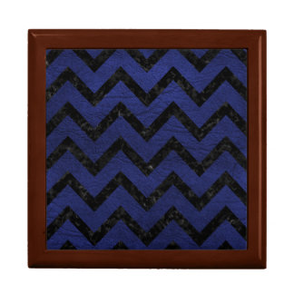 CHEVRON9 BLACK MARBLE & BLUE LEATHER (R) GIFT BOX