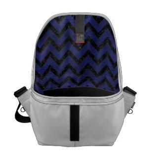 CHEVRON9 BLACK MARBLE & BLUE LEATHER (R) MESSENGER BAG