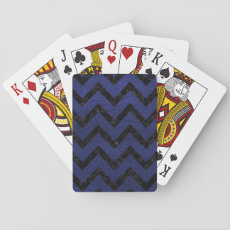 CHEVRON9 BLACK MARBLE & BLUE LEATHER (R) PLAYING CARDS