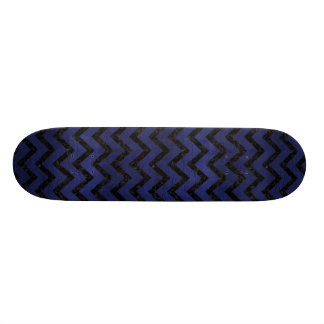 CHEVRON9 BLACK MARBLE & BLUE LEATHER (R) SKATEBOARD DECK