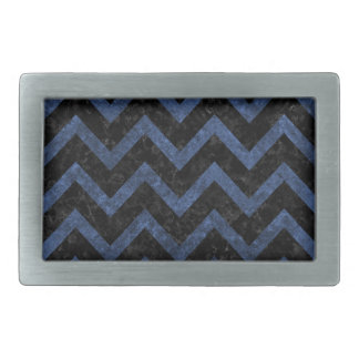 CHEVRON9 BLACK MARBLE & BLUE STONE BELT BUCKLE