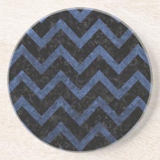 CHEVRON9 BLACK MARBLE & BLUE STONE COASTER