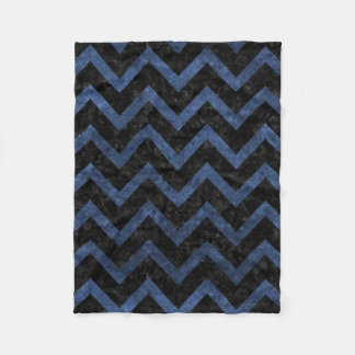 CHEVRON9 BLACK MARBLE & BLUE STONE FLEECE BLANKET