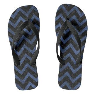 CHEVRON9 BLACK MARBLE & BLUE STONE FLIP FLOPS