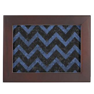 CHEVRON9 BLACK MARBLE & BLUE STONE KEEPSAKE BOX