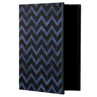 CHEVRON9 BLACK MARBLE & BLUE STONE POWIS iPad AIR 2 CASE