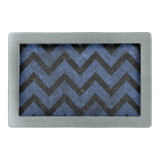 CHEVRON9 BLACK MARBLE & BLUE STONE (R) BELT BUCKLES