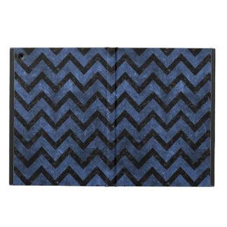 CHEVRON9 BLACK MARBLE & BLUE STONE (R) iPad AIR CASE