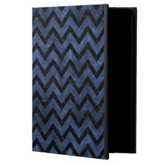 CHEVRON9 BLACK MARBLE & BLUE STONE (R) POWIS iPad AIR 2 CASE