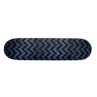 CHEVRON9 BLACK MARBLE & BLUE STONE (R) SKATE BOARD
