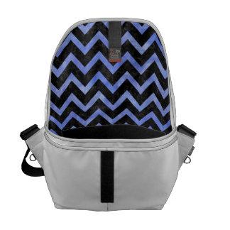 CHEVRON9 BLACK MARBLE & BLUE WATERCOLOR COURIER BAG