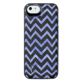 CHEVRON9 BLACK MARBLE & BLUE WATERCOLOR iPhone SE/5/5s BATTERY CASE