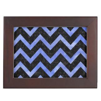 CHEVRON9 BLACK MARBLE & BLUE WATERCOLOR KEEPSAKE BOX