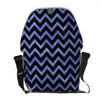 CHEVRON9 BLACK MARBLE & BLUE WATERCOLOR MESSENGER BAG