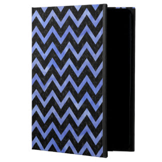 CHEVRON9 BLACK MARBLE & BLUE WATERCOLOR POWIS iPad AIR 2 CASE
