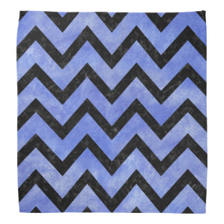 CHEVRON9 BLACK MARBLE & BLUE WATERCOLOR (R) BANDANA