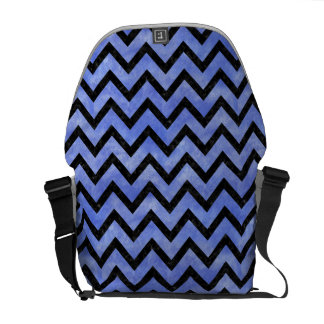 CHEVRON9 BLACK MARBLE & BLUE WATERCOLOR (R) COMMUTER BAG