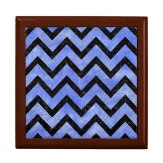 CHEVRON9 BLACK MARBLE & BLUE WATERCOLOR (R) GIFT BOX