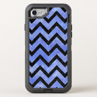 CHEVRON9 BLACK MARBLE & BLUE WATERCOLOR (R) OtterBox DEFENDER iPhone 8/7 CASE