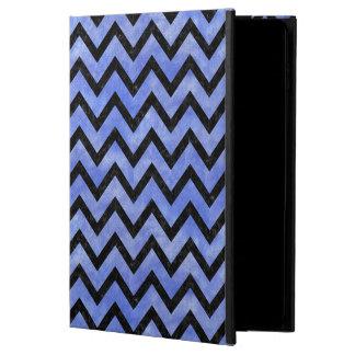 CHEVRON9 BLACK MARBLE & BLUE WATERCOLOR (R) POWIS iPad AIR 2 CASE