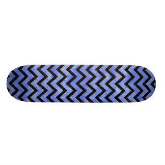 CHEVRON9 BLACK MARBLE & BLUE WATERCOLOR (R) SKATE BOARD DECK