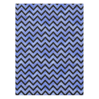 CHEVRON9 BLACK MARBLE & BLUE WATERCOLOR (R) TABLECLOTH