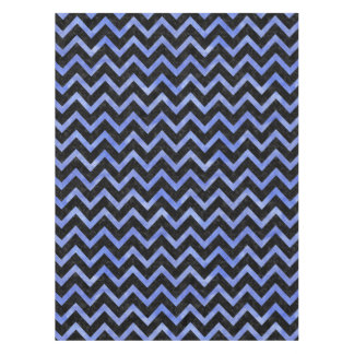CHEVRON9 BLACK MARBLE & BLUE WATERCOLOR TABLECLOTH