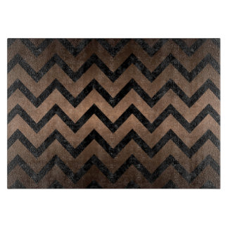 CHEVRON9 BLACK MARBLE & BRONZE METAL (R) BOARDS