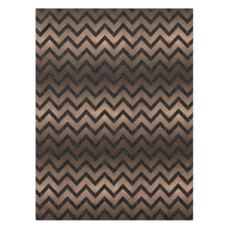 CHEVRON9 BLACK MARBLE & BRONZE METAL (R) TABLECLOTH