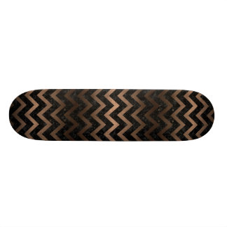 CHEVRON9 BLACK MARBLE & BRONZE METAL SKATE DECKS