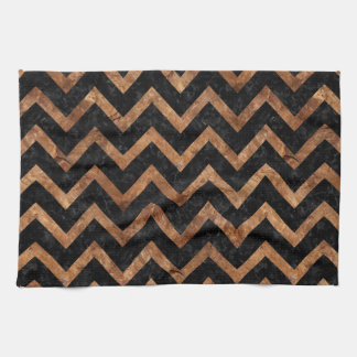 CHEVRON9 BLACK MARBLE & BROWN STONE KITCHEN TOWEL