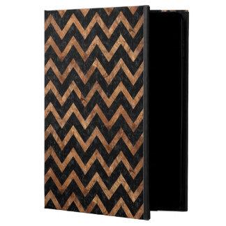 CHEVRON9 BLACK MARBLE & BROWN STONE POWIS iPad AIR 2 CASE