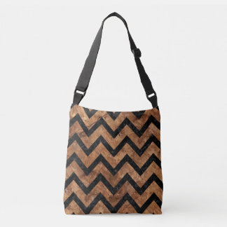 CHEVRON9 BLACK MARBLE & BROWN STONE (R) CROSSBODY BAG
