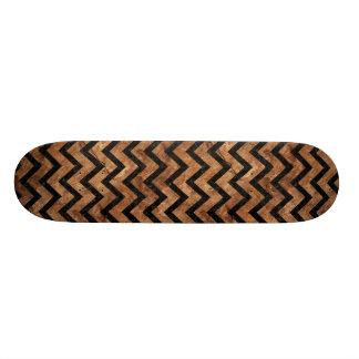 CHEVRON9 BLACK MARBLE & BROWN STONE (R) SKATEBOARDS