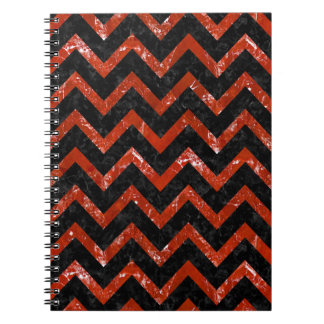 CHEVRON9 BLACK MARBLE & RED MARBLE NOTEBOOK