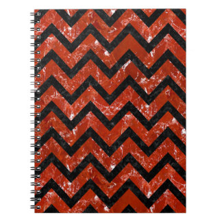 CHEVRON9 BLACK MARBLE & RED MARBLE (R) NOTEBOOK