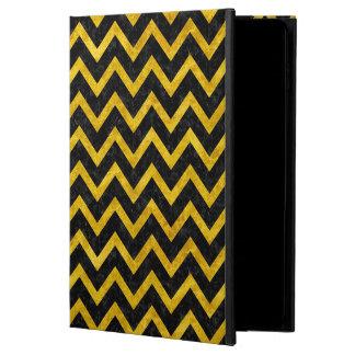 CHEVRON9 BLACK MARBLE & YELLOW MARBLE POWIS iPad AIR 2 CASE