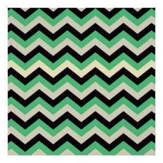 chevron 02 zigzag aqua black print