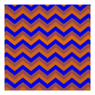 chevron 02 zigzag blue orange print