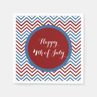 Chevron 4th of July Paper Napkins
