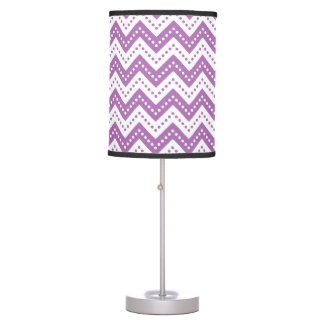 Chevron 7 Radiant Orchid Table Lamp