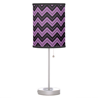 Chevron 7 Radiant Orchid Table Lamps