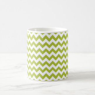 Chevron Acid Green And White Coffee Mug