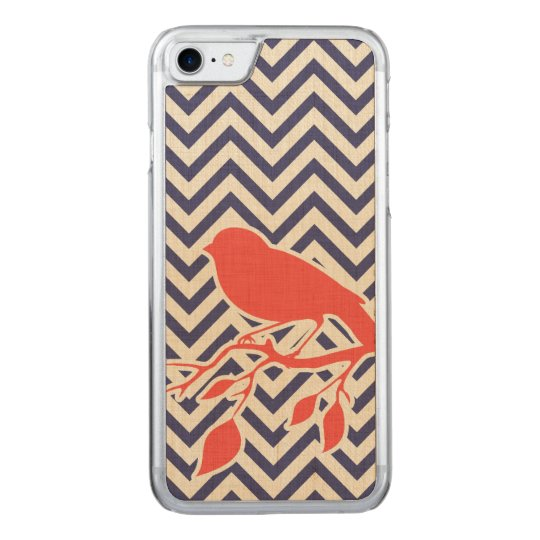 Chevron and bird carved iPhone 8/7 case
