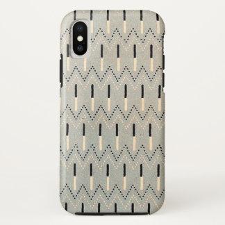 Chevron and Tabs Retro Dot Pattern iPhone X Case
