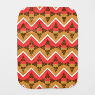 Chevron and triangles baby burp cloths
