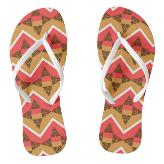 Chevron and triangles flip flops